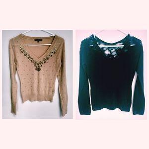 Set of 2 Vintage Betsey Johnson Holiday Sweater